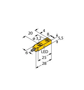 BI2-Q5.5-AP6X/S34 TUR 1613001 SWITCH INDUCTIVE PROXIMITY SENSOR