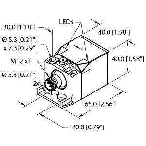 TUR BI15U-CK40-AP6X2-H1141 W/BS2.1 SENSOR, QUICK DISCONNECT WITH EUROFAST (1625689)