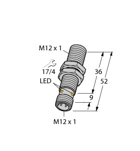 BI6U-M12-IOL6X2-H1141 TURCK 1644873 PROX M12 SHIELDED 6MM RANGE