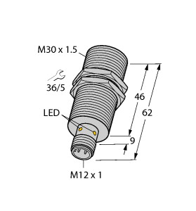 BI20U-M30-IOL6X2-H1141 TURCK 1644882 PROX M30 SHIELDED 20MM RANGE